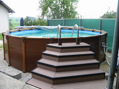 Projektbilder stiege mit terrassendielen terrace fa edlmayr - Poolumrandungen ideen ...